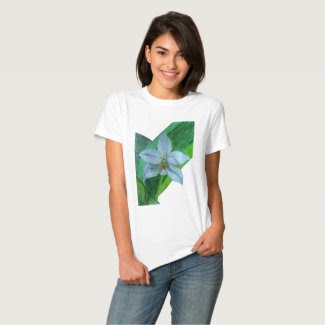 White Terrestrial Orchid Shirt