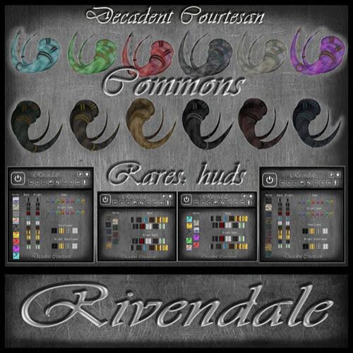 Rivendale Horns - Gacha Add w_Black horns