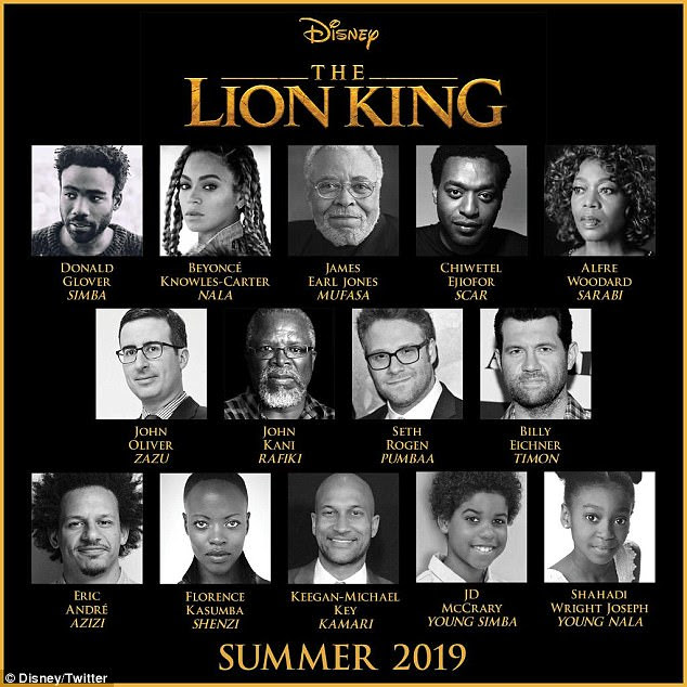Circle Of Life:Disney took to their Twitter on Wednesday to announce the cast of the highly-anticipated film which included the 36-year-old Queen Bey herself