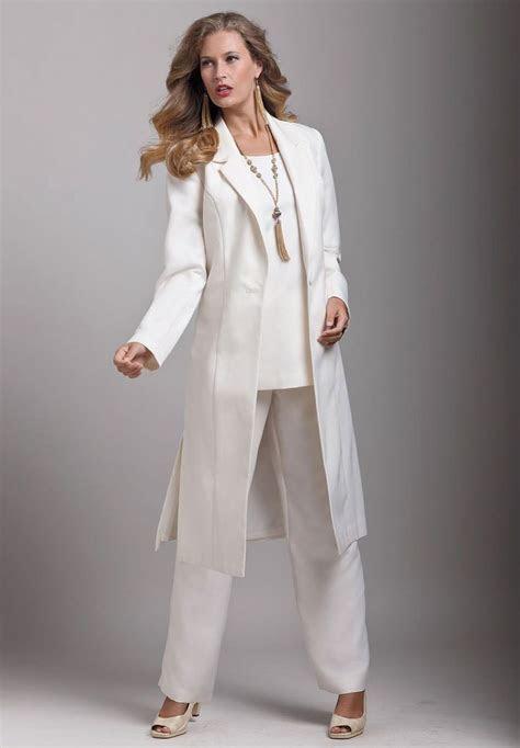 size  piece duster pant suit image mother