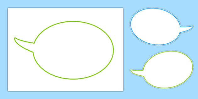 Speech Bubbles - speech, bubbles, editable, bubble