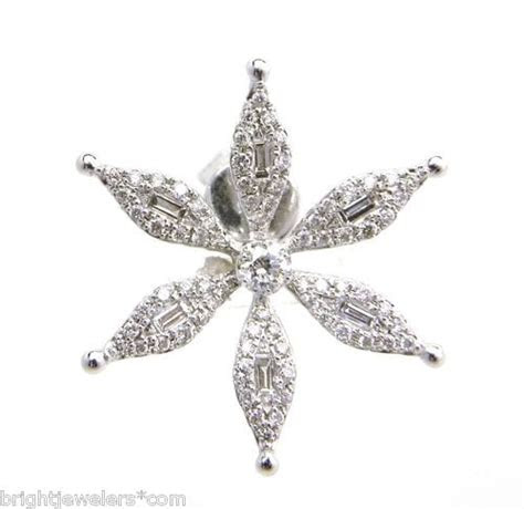 ladies  white gold diamonds star earrings bright jewelers