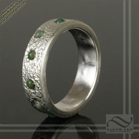 Mens Jade Inlay Wedding Band   www.earthartgemandjewelry.com