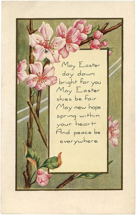Pretty Easter Blossoms Image!   The Graphics Fairy