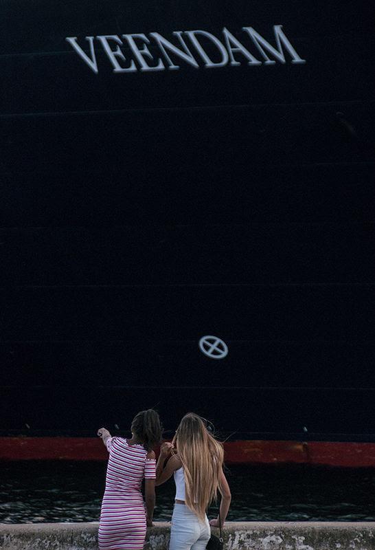 El crucero Veendam es tan impresionante como cualquier buque de Carnival. Foto: L Eduardo Domínguez/ Cubadebate.