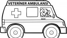 Ambulans Boyama Sayfası