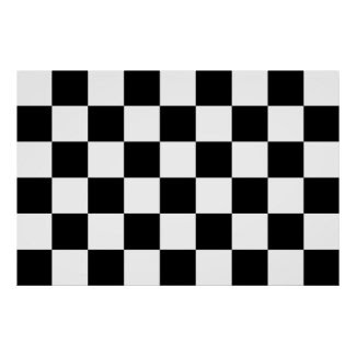Checkered Black and White Poster