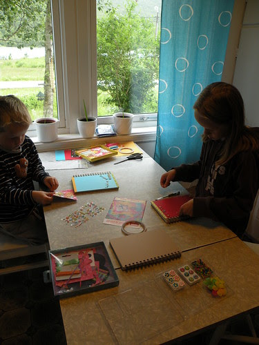 Rainy day activity - making books