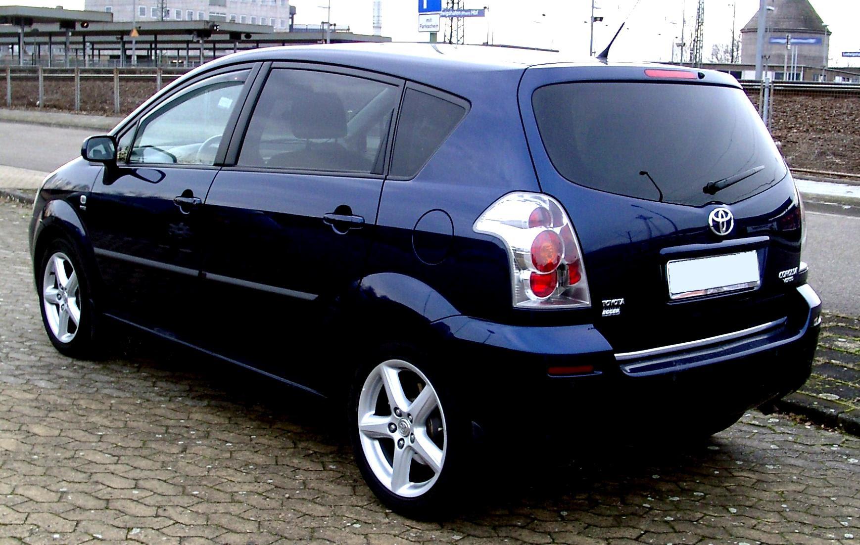 Toyota Corolla Verso 2002 On Motoimg Com