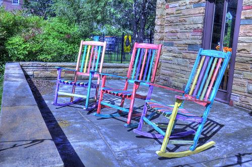 Colorful Rocking Chairs - Near Music Row