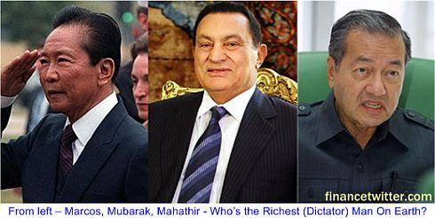 Marcos Mubarak Mahathir Richest Man