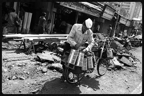 God Save The Dabbawalas Cycle From Potholed Mumbai Roads by firoze shakir photographerno1