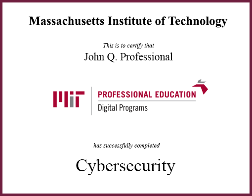fwd: professional training in cybersecurity from mit - google groups