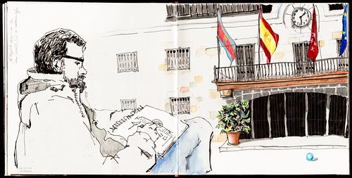 dibujando el Ayuntamiento