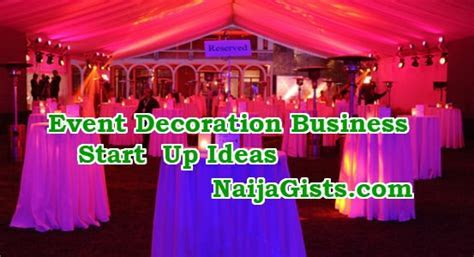 How To Start An Event Decoration Business In Nigeria