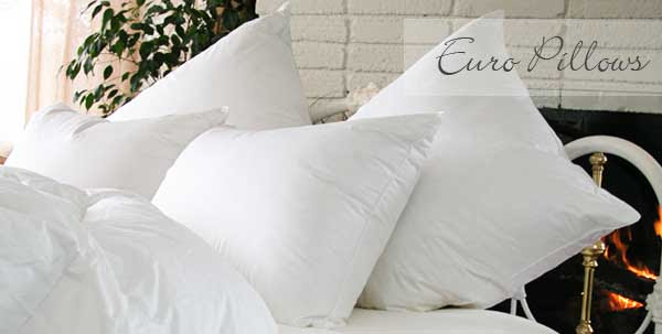 Traditional Luxury Euro Size Square Goose Down Pillows