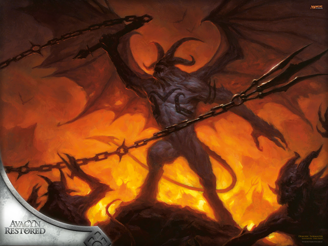 Wallpaper Of The Week Demonic Taskmaster Magic The Gathering