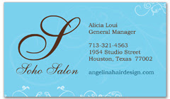 BCS-1027 - salon business card