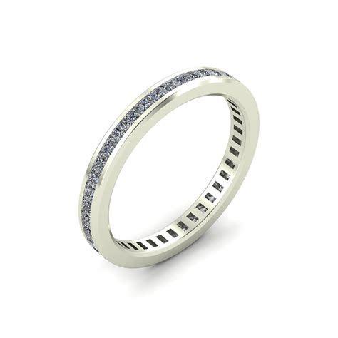 Octagon Princess Cut Eternity Ring with Diamonds