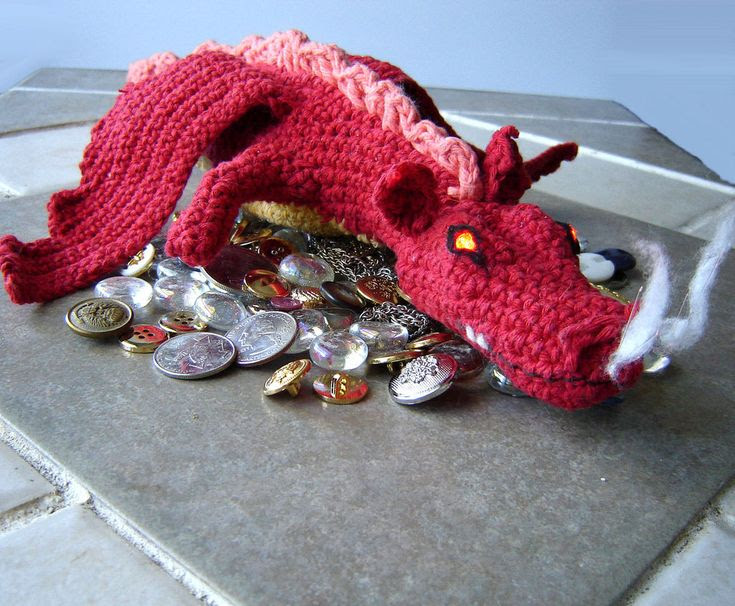 Smaug The Magnificent, Smaug the Golden, the Dragon of Erebor  http://www.instructables.com/id/Crochet-Dragon-Smaug-from-The-Hobbit/