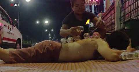 Đi giác hơi đấm bóp về đêm giá 50k/suất ngay vỉa hè Sài Gòn