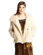 Rachel Rachel Roy Faux Curly Lamb Swing Jacket