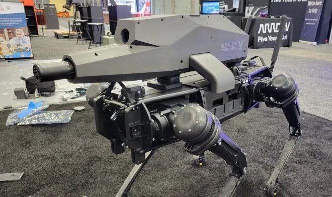Компания Ghost Robotics вооружила своего робопса тяжелой снайперской винтовкой