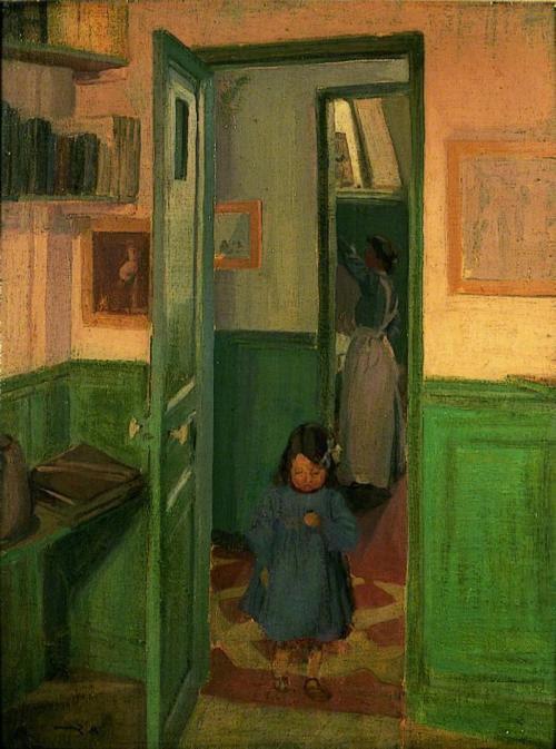thorsteinulf:  Harold Gilman - In Sickert's House (1907)