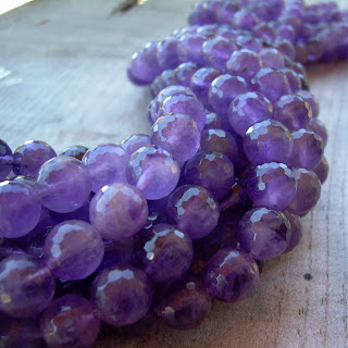 faceted round amethyst