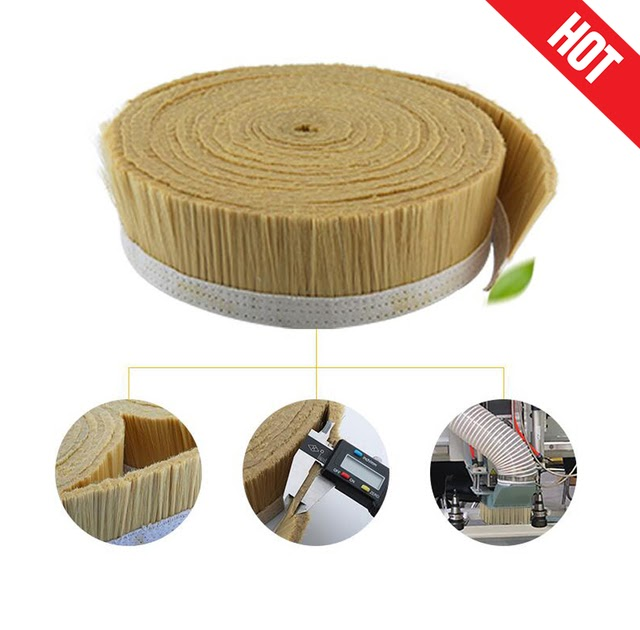 100mm  Nylon Brush Vacuum Cleaner Engraving Machine Dust Cover for CNC Router 1M