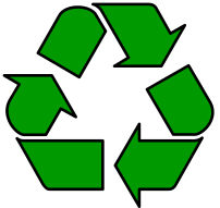 The international recycling symbol.