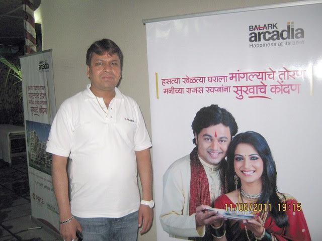 "Mr. Pramod Wani, Director, Pate Developers, at ""BALARK arcadia"", 1 BHK - 1.5 BHK - 2 BHK Flats, near Rajyog Society, Sinhagad Road, Pune"