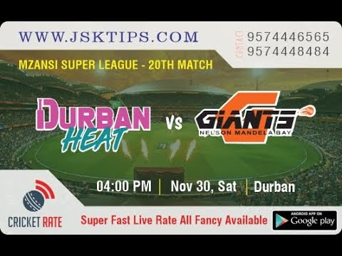 Durban Heat Vs Nelson Mandela By Giants 20th Match Prediction & Betting ...