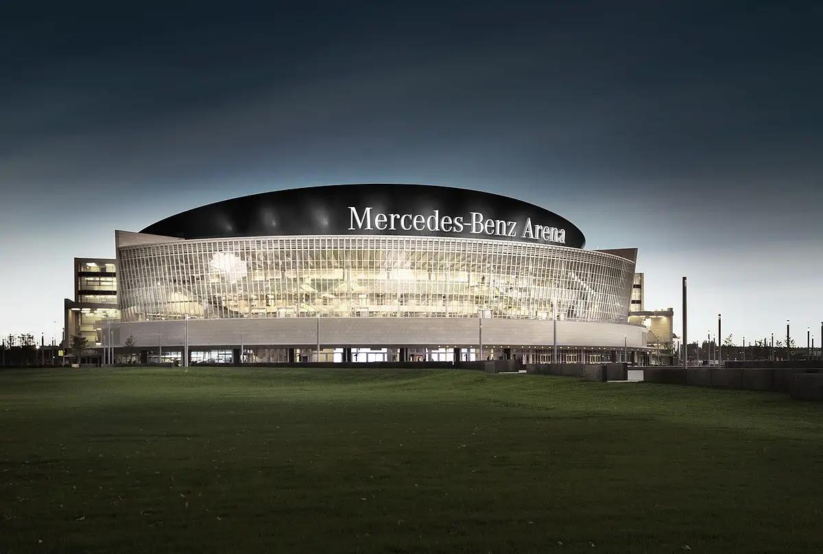De Mercedes Benz Arena in Berlijn