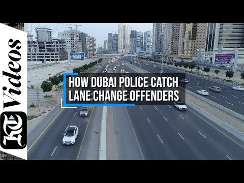 How Dubai Police catch lane change offenders