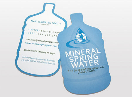 Mineral Water Business Card