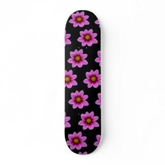 Pink Northwest Cosmos Flower Skateboard skateboard