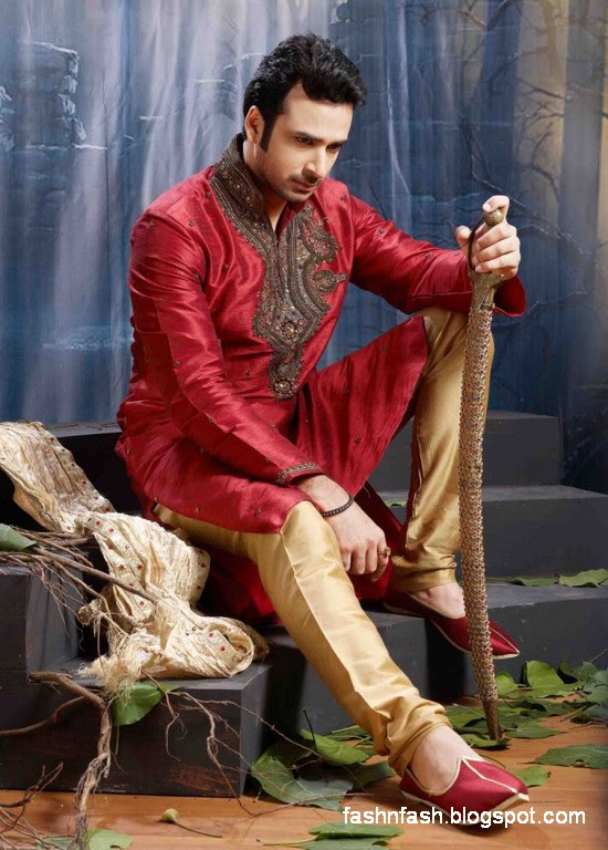 Kurtas-Designs-Men-Male-New-Latest-Silk-Cotton-Kurta-Style-Design-Collection-