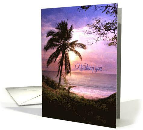 Happy Birthday Tropical, Palm Tree, Coastal Pretty card