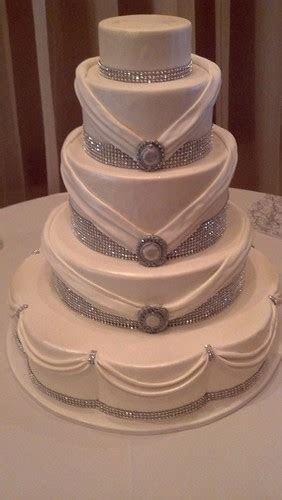 Rhinestone wedding cake(1187)   Five tier cake. White cake