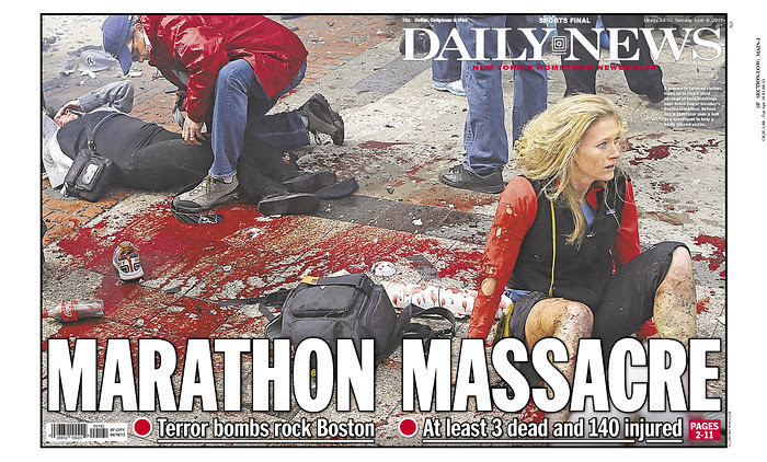 NY Daily News Edited Front Page Photo Of Boston Tragedy (PHOTOS ...