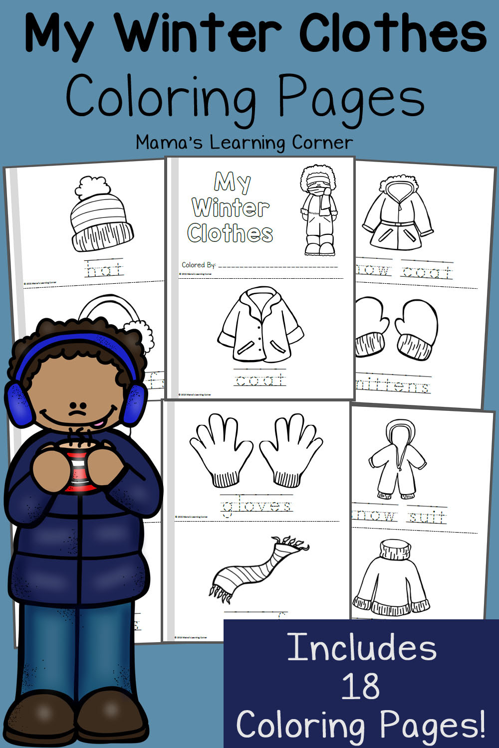 Winter Coloring Pages - Mamas Learning Corner