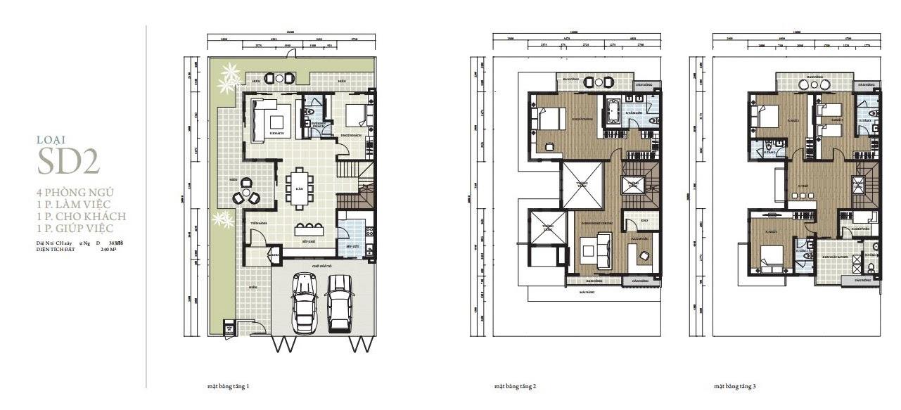 Thiết kế SD2 biệt thự Park City