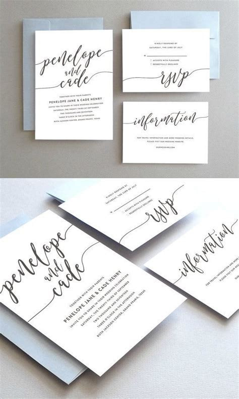 Classic Wedding Invitation Suite // Modern Wedding