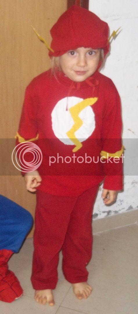 Homemade Flash costume- frugal, easy