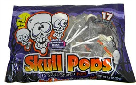 Skull Lollipops 17ct Halloween Candy