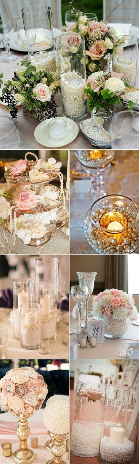 Best 25  Pearl Centerpiece ideas on Pinterest   Lace vase