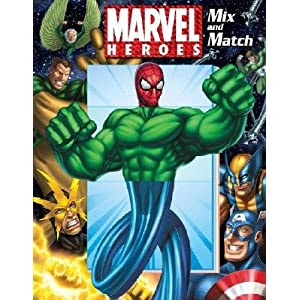 Marvel Heroes Mix & Match   [MARVEL HEROES MIX & MATCH] [Board Books]
