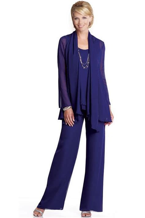 royal blue summer style wedding pants suits set  mother