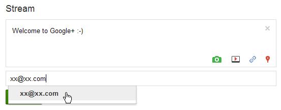 第三步: 根据 Google+ 的自动匹配选中邮箱